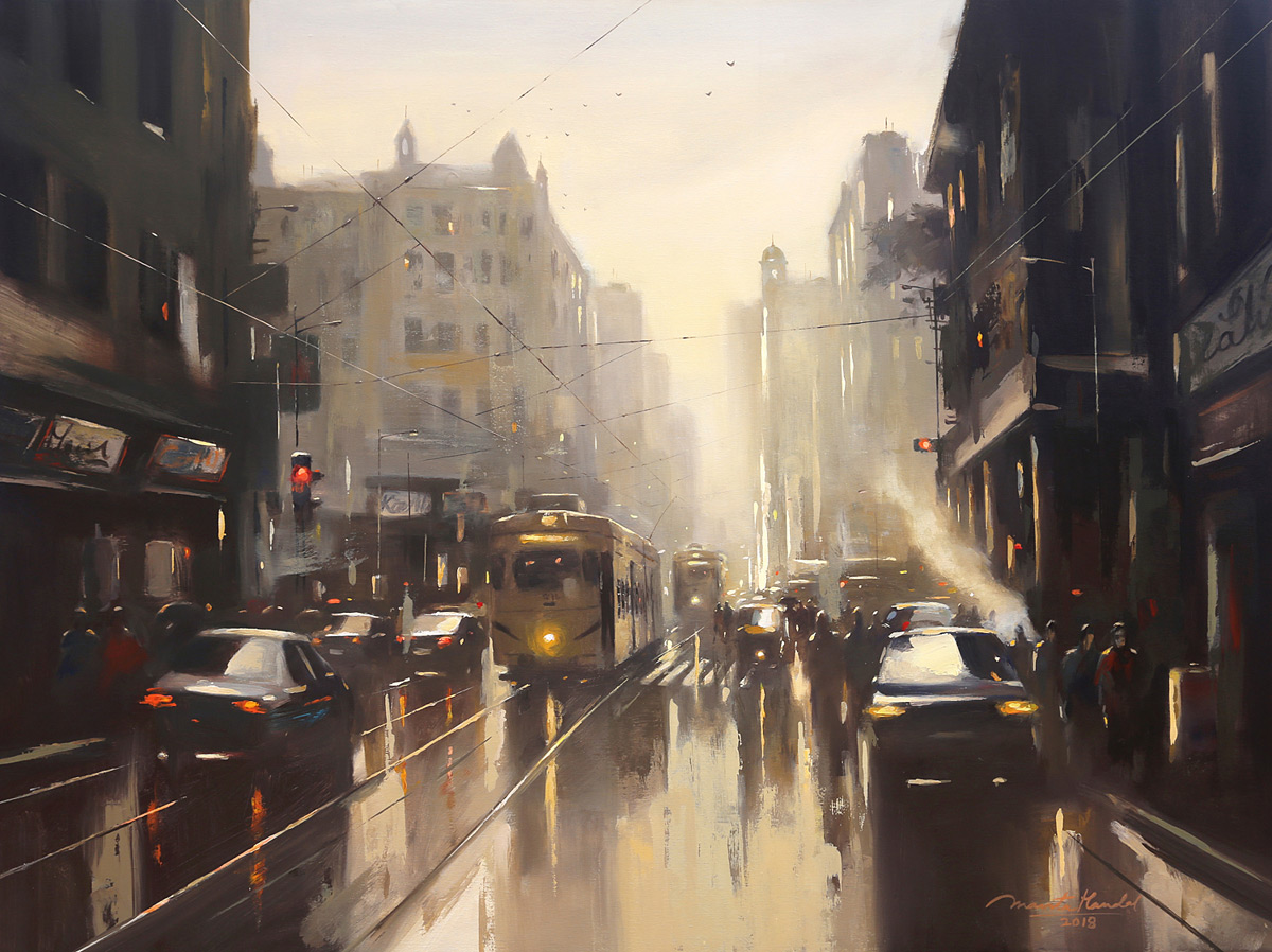 Kolkata Monsoon painting by Ananta Mandal