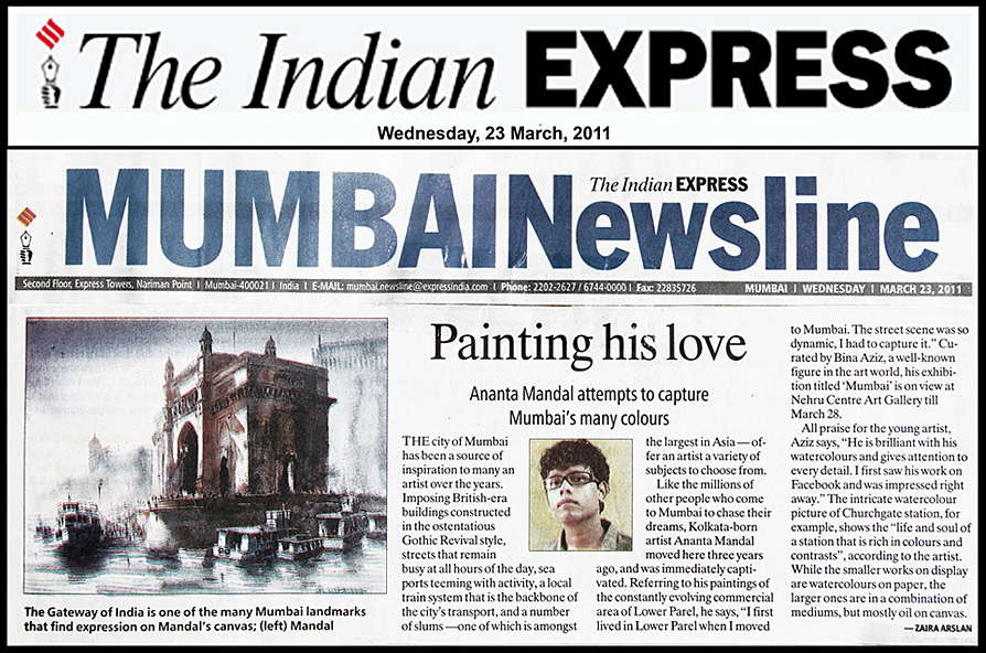 Indian Express, 23 march 2011, Mumbai | Ananta Mandal