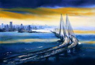 Bandra Sea Link  painting