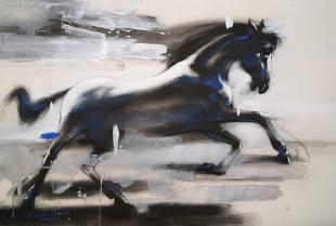 Chasing-Horse-painting-by-ananta-mandal