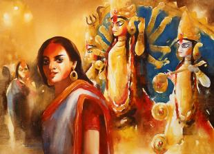 Devi-Celebration-paintings-by-ananta-mandal