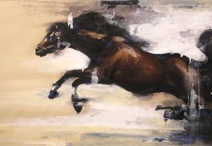 horse-paintings, horse sketch, ananta mandal painting