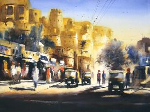 rajasthan-fort-painting-by-ananta-mandal
