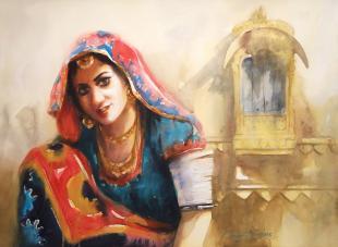 rajasthan-woman-pnting-ananta-mandal