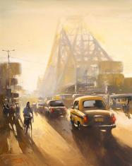 Howrah Bridge painting