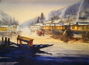 Kashmir-painting-Heaven-on-Earth-by-ananta-mandal