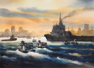 Mumbai-Arabian-Sea-III-paintings-by-ananta-mandal