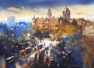 Mumbai painting by ananta mandal