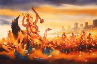 Mumbai-Ganpati-Festival-paintings-by-ananta-mandal