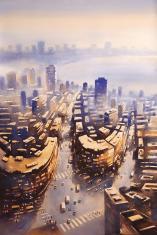 Mumbai-Skyscraper-iii-painting-by-ananta-mandal