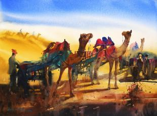 rajasthan-landscape-painting-by-ananta-mandal