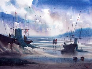 sea-painting-by-ananta-mandal