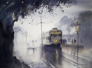 watercolor, kolkata-painting, calcutta