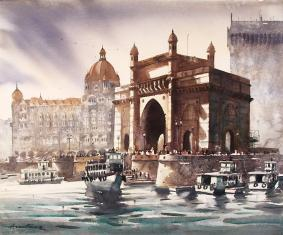mumbai-sea-view-painting-by-ananta-mandal