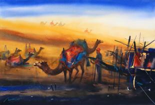 desert-painting-by-ananta-mandal