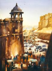 jaisalmer-fort-painting-by-ananta-mandal