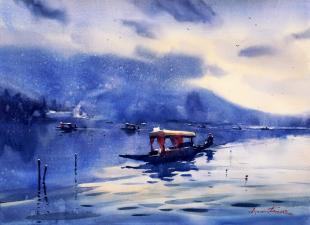 kashmir landscape painting