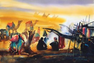 rajasthan-desert-painting-by-ananta-mandal