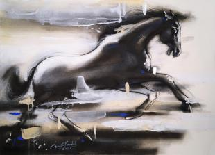 running-horse-paintings-by-indian-artist-ananta-mandal