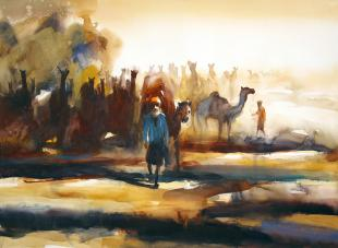 Camel rajasthan painting