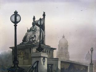kolkata-victoria-memorial-painting-by-ananta-mandal
