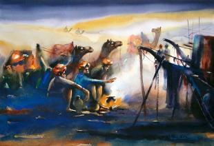 rajasthan-painting-by-ananta-mandal
