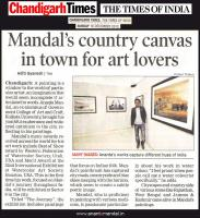 Ananta Mandal painting | Times of India - Chandigarh | AnantaMandal.com