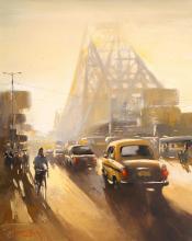 Howrah Bridge painting