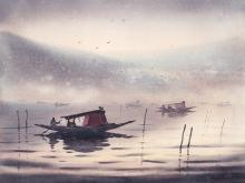 dal-lake-painting-by-ananta-mandal