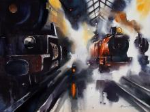 Steam-rail-painting-by-ananta-mandal