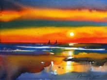 sunset-painting-by-ananta-mandal