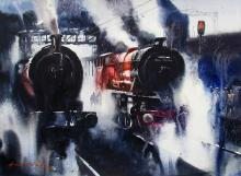 railway-landscape-painting-by-ananta-mandal